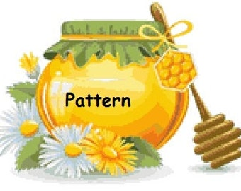 Honey. Cross Stitch Pattern. PDF Files.
