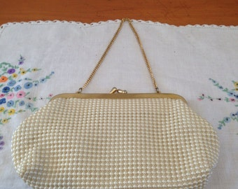 vintage pearl evening bag