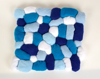 Blue Pebble Cushion - Fleece Sewing Project