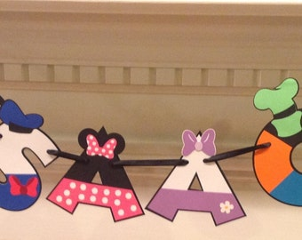 Mickey Mouse Character Name Banner up to 7 Letters