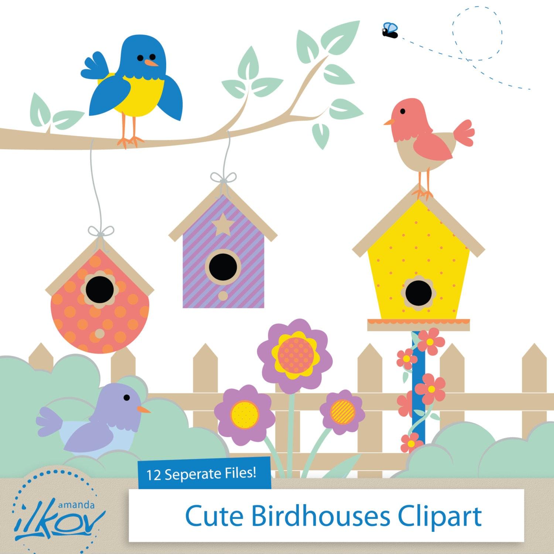 Birdhouse clip art | Etsy