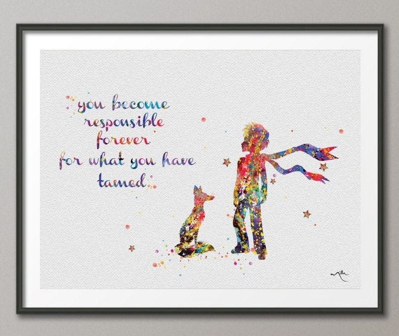 The little prince le petit prince with fox quote by cocomilla Decoration le petit prince