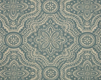 """Premier Prints Fabric-DAKOTA-Cadet Blue Oatmeal Or Taupe Linen-54"""" wide-Fabric By The Yard"""