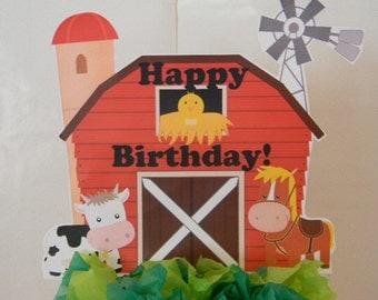 Barnyard Cake Topper