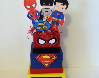 Superhero Birthday Centerpiece