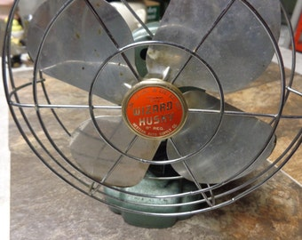 Vintage - Turquoise - Wizard Hushy - Fan - Used