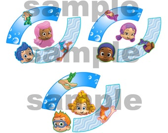 12 bubble guppies cupcake wrapper and topper