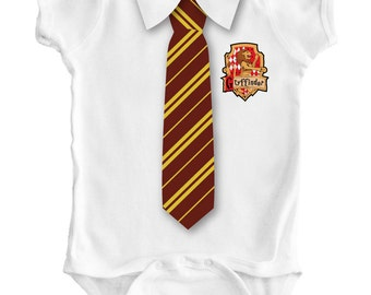 HARRY POTTER TIE - Baby Romper / Creeper / Bodysuit / Vest / One piece / Hogwarts / Costume