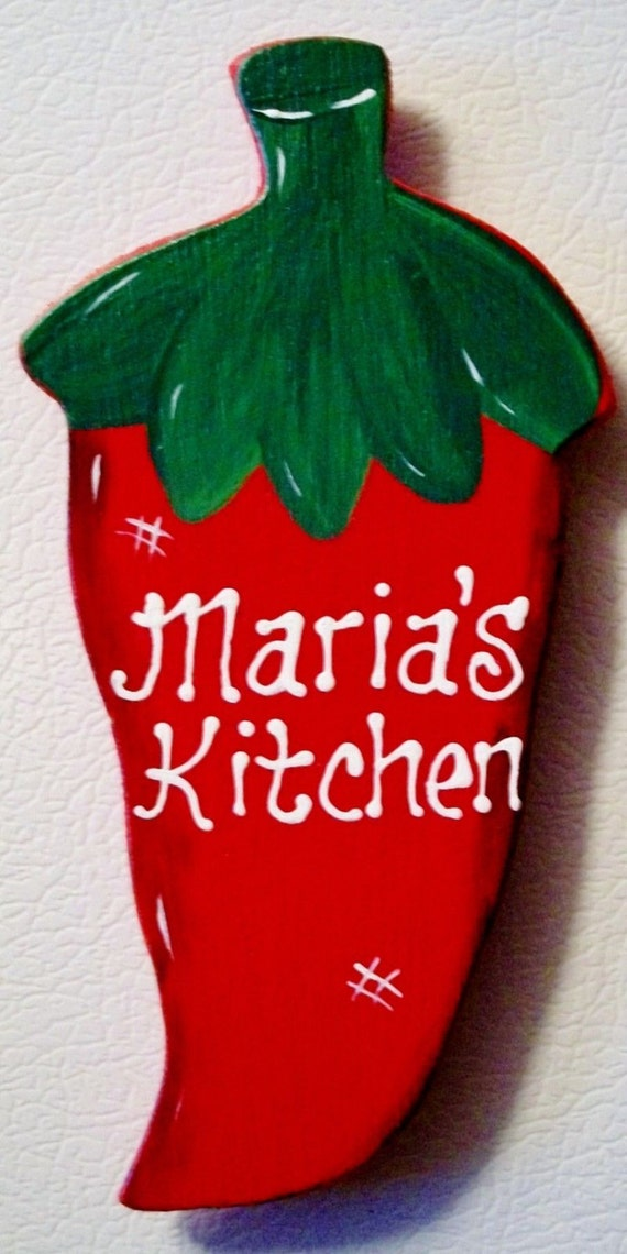 chili pepper magnet personalized name by 3craftymillers