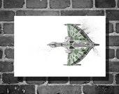 Star Trek poster Romulan vehicle movie poster minimalist poster star trek