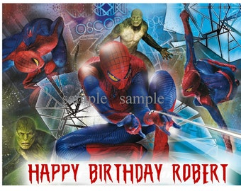 Spiderman Edible Image Frosting Sheet Cake Topper