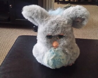 2005 Large Battery Operated Furby Blue Grey