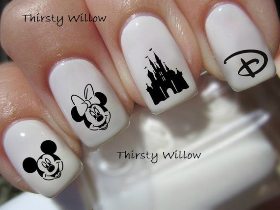 Disney Nail Decals By Thirstywillow On Etsy