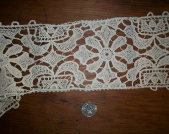 "74"" of Antique lace hand made"