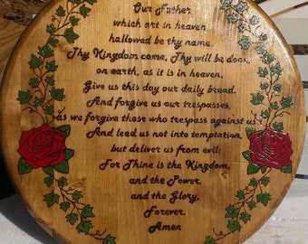 The Lord's Prayer. Hand made