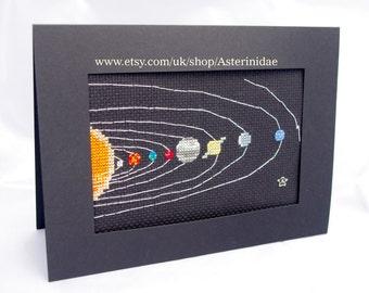 Solar system cross-stitch PDF chart