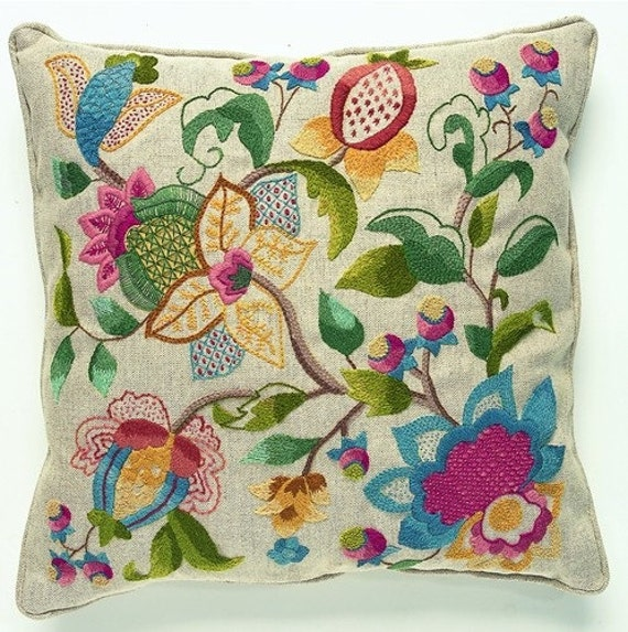 CW 409 Charlotte Crewel Embroidery Cushion Kit