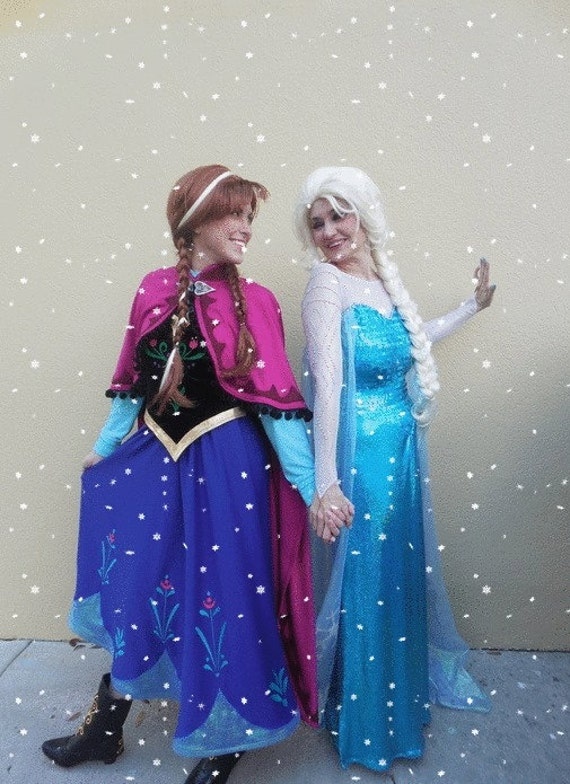 elsa and anna frozen costumes. Black Bedroom Furniture Sets. Home Design Ideas