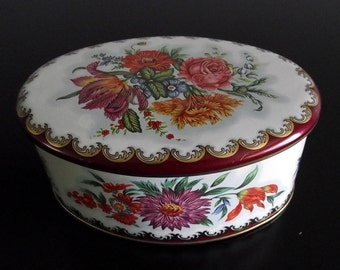 Small Oval Daher Tin Box Made In England