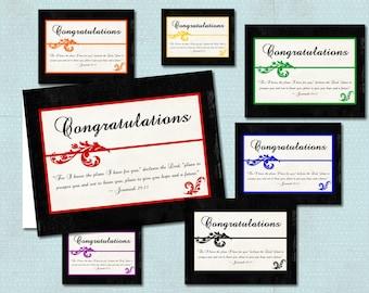 Religious Congratulations Graduation Card, digital download, several colors