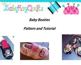 Baby Shoe PDF Pattern,Soft Sole Shoe Sewing Pattern,Baby Booties PDF, Baby Slippers PDF,baby shoe pdf