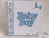 Handmade Newborn Baby Boy Congratulations Card