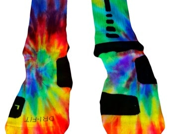 Nike Elite Socks_Multicolor Tie Dye_Choose one of our designs or submit an image for a totally custom pair of socks