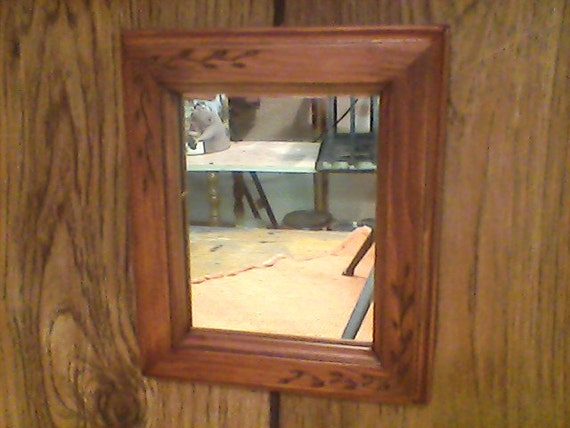 Rustic Foyer Mirror : Small decor mirror rustic landing foyer