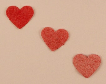 Plantable Heart Wedding Confetti Pink, plantable paper, eco friendly wedding table decorations