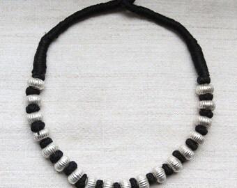 Ethnic Silver Bead Necklace - Banjara, India