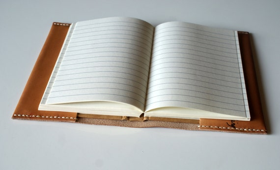 Personalized Leather Notebook cover Refillable Leather