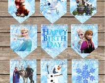 Custom Frozen Birthday Banner! Digital Download! Frozen Princess Birthday!