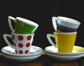 Tour de France Jersey - Set of 4 - Espresso Cups and Saucers