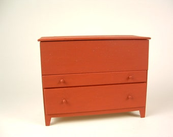 Shaker rwo drawer blanket chest
