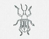 Root Weevil Redwork Embroidery Machine Digital Download 4x4 5x7 6x10 Modern