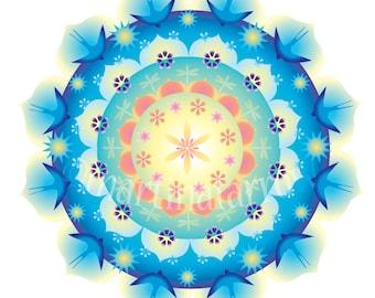 Greeting Card Mandala: Summer Star