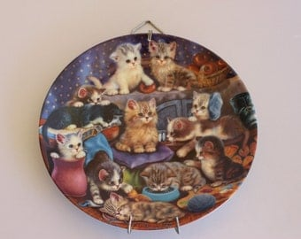 On Sale! Bradford Exchange Frisky Business Collectors Plate Kittens