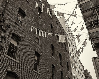 Seattle Photography, Post Alley, Pike Place Market, Architecture, Urban, Fine Art Black and White Photography, Wall Art, Home Decor