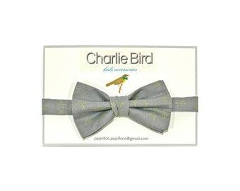 Bow tie for Kids golden dragonflies