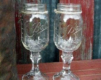8 Redneck Wine Glasses | Redneck Wine Glass | Hillbilly Wine Glasses | Wedding Wine Glasses | Wedding Party Glasses | Redneck Wine Glass