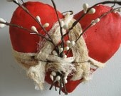 Red Heart Wall Hanging,  OFG, FAAP