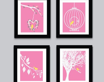 Birds Childrens Art Print, Kids Wall Art, Modern Kids Art Print, 549