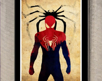 Minimalist Superhero Poster - Spiderman