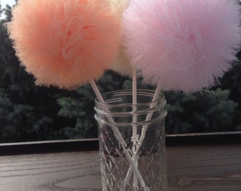 Tulle pom poms Centerpiece,Party Decoration,Pom Pom Favors Centerpiece