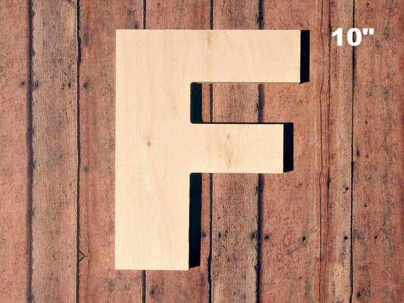 unfinished 10 decorative wooden letter f 10 inch With 10 inch unfinished wooden letters