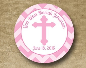 Holy Communion Stickers, Personalized Baptism Stickers, Communion Gift Labels, Cross, Christening Stickers, Religious Stickers, Catholic