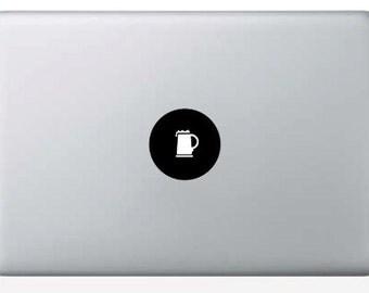 Macbook Beer Mug Decal for the Apple center light!