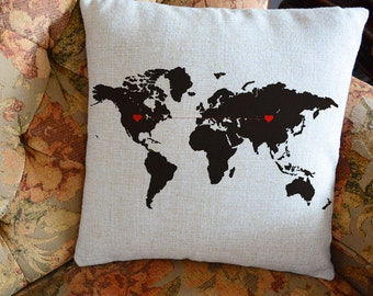 Personalized Pillow Gift For Home Wedding By CreativePillow - Us map pillow personalized
