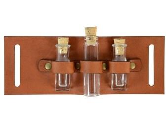 Steampunk Utility Belt Add-On - Triple Vial Slide - #DK2037-3