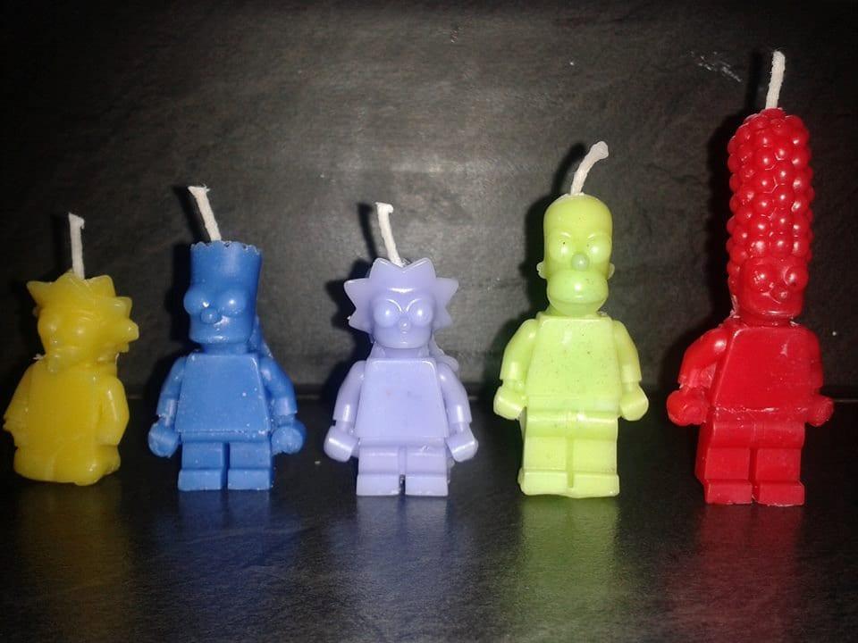 Simpsons lego birthday candles x 5 - Anniversaire simpson ...